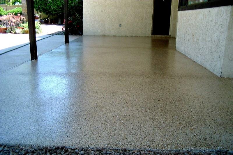 Exceptionnel Back Patio Granite Epoxy