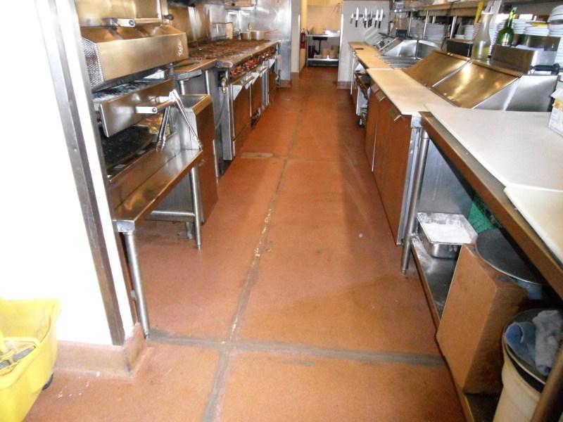 Restaurant Epoxy Floor Joint Repair Before Final Coating - Epoxy floor coating for restaurants