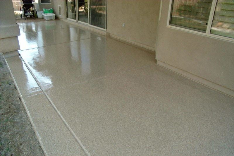Ordinaire Patio Epoxy Urethane Small Chips Torque Tan